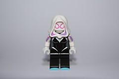 EG Review: PCB Pink Arachnid (Evil Guppy) Tags: woman phoenix spider lego stacy bricks review marvel gwen customs eg spidergwen spiderverse