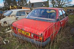DSC_9792 (srblythe) Tags: uk classic cars ford abandoned graveyard car austin volkswagen scotland volvo rust fiat decay north rusty british scrapyard hyundai leyland vauxhall volvograveyard