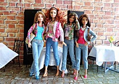 Every Doll Has Its Day - Pt. 23 (Dia 777) Tags: sisters dolls barbie collection teresa tall barbiefashionistas dia777 barbiestyleglamnight denimndots madetomovebarbie terrificteal
