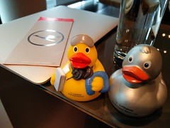 Ducks of Lufthansa (A. Wee) Tags: germany duck airport frankfurt terminal lufthansa firstclass
