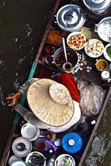Bangkok, Thailand (james.mason01) Tags: travel food tourism thailand boat asia market bangkok floating
