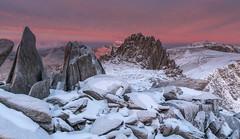 'Spring Snowfall' - Castell-Y-Gwynt, Snowdonia (Kristofer Williams) Tags: winter snow mountains ice rock wales sunrise landscape dawn snowdonia eryri mountainrange glyderfawr glyderfach snowdonianationalpark glyderau castleofthewinds castellygwynt