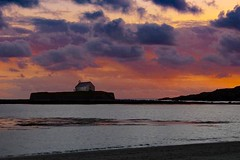 Sunset at St Cwyfan's (rededdie47) Tags: sunset church bea chapel shore coastalpath anglesey