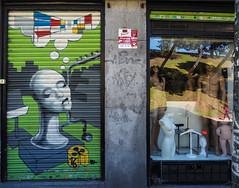 We are showroom dummies (real ramona) Tags: reflection window shop graffiti dummies manequins manekins