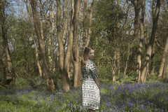 bluebells (Sarah-Louise Burns) Tags: summer england sun girl beautiful fashion bluebells vintage countryside spring style retro british essex