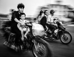 Ho Chi Minh City (damonjah) Tags: street bw white black monochrome race streetphotography streetlife vietnam motorcycle damon saigon hochiminhcity jah studiojahcom
