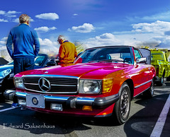 Mercedes 450 sl. (Edward Saksenhaus RPh.) Tags: auto red classic car german vehicle foreign expensive luxury mercedes450sl mercese