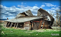 April 20 2016 - Ten Sleep barn - Not if, but when (lazy_photog) Tags: old abandoned barn photography sleep down falling anderson lazy ten wyoming elliott photog collapsing 042016andersonsbarn