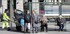 Bus shelter (bokage) Tags: street traffic sweden stockholm transport gamlastan oldtown bokage
