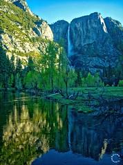 Horsetail Falls at Sunset. Yosemite California (Travel to Eat) Tags: california waterfall nationalpark scenery yosemite mercedriver horsetailfalls