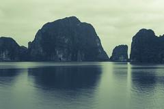 Ha Long Bay (Gigin - NoDigital) Tags: sea sky mountain nature water bay asia long vietnam geography ha halongbay