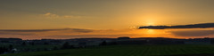 Panorama Wideumont - Sainte Marie (peterfatson) Tags: sunset panorama landscape pentax campagne wr coucherdesoleil k3 1685