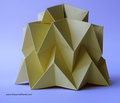 DSC01481 (thesesmallhands) Tags: sculpture art paperart lanterns lampshade paperfolding