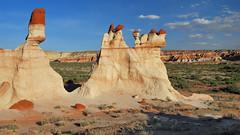 *Blue Canyon* (albert.wirtz) Tags: arizona usa clouds america sandstone unitedstates wolken bluesky erosion navajo sandstein blauerhimmel hopi bluecanyon felsen tubacity navajonation secondmesa tonalea moenkopiwash indianroad6240