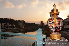 smw-20160301-020 (swaldman-firecloud) Tags: bridge art public japan urn river japanese gold painted ornament pottery ornate saga porcelain imari