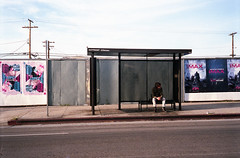 The Bus Stop (bhop) Tags: california street city urban bus film rollei los angeles superia iso400 stop 400 fujifilm 35 across culver c41 v700 35se