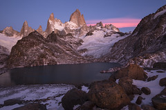 """Calm after the storm"" (Fabio Rage) Tags: park morning autumn light camp patagonia snow argentina roy de los el lagoon rage fabio mount cerro national tres laguna rise sum fitz chalten glaciares pioncenot"