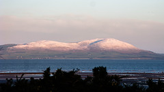 Criffel_with_snow_7837-1 (allybeag) Tags: morning snow ice words seaside frost drawing path patterns numbers cumbria cyclepath criffel hadrians cycleway maryport crosscanonby