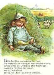 Little Boy Blue (cvcrossing) Tags: illustration littleboyblue nurseryrhyme