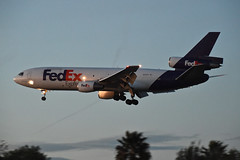 FedEx MD-10-10F; N365FE@LAX;03.02.2016 (Aero Icarus) Tags: california plane aircraft lax flugzeug avion dc10 trijet losangelesinternationalairport