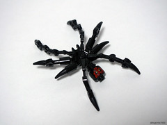 Black Widow Spider (Takamichi Irie) Tags: 2 6 3 black bug star 1 spider arms lego arm head 5 4 7 bugs darth wars widow episode droid maul droids moc mcos