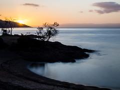 Sunset-Honeymoon Bay-Freycinet National Park-Tasmania (mikemellinger) Tags: ocean sunset sun nature water beauty landscape island bay nationalpark scenery peaceful australia calm tasmania tassie setting continent freycinet honeymoonbay freycinetnationalpark