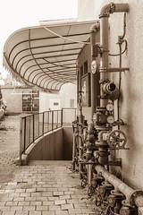 Sprinkler System, Weizmann Street, Tel Aviv (kitchener.lord) Tags: sepia israel telaviv impressions 2016 xf27