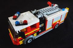 MFB Pumper (LonnieCadet) Tags: road rescue car ferry truck fire town lego helicopter vehicles service emergency tanker pumper moc 2016 brickvention lonniecadet bv16