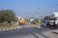 Thailand - Kanchanaburi - Daily service (railasia) Tags: thailand infra nineties kanchanaburi generalelectric srt levelcrossing railwork metergauge series4000 dlocotrain