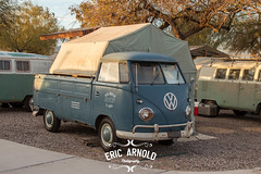 VW Single Cab Camping (Eric Arnold Photography) Tags: blue camping camp arizona lake bus car vw truck volkswagen cab az tent single havasu trailer split lakehavasu topper singlecab 2016 splitty splitwindow busesbythebridge helite doveblue heilite busesbythebridgexx busesbythebridge20