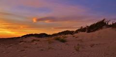 Sand Dunes - Explore (RWGrennan) Tags: ocean ri sunset sky orange cloud color beach grass point island sand nikon wind ryan dune atlantic 5100 rhode napatree westerly grennan d5100 rwgrennan rgrennan