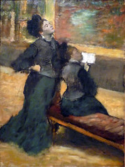 Degas, Visit to a Museum, c. 1879-90