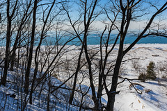 Winter View of Lake Michigan in Rosy Mound Natural Area along Lake Michigan (Lee Rentz) Tags: park old trees winter wild usa snow cold ice beach nature america forest season outdoors high sand midwest view unitedstates natural snowy michigan dunes dune seasonal lakemichigan trail shore northamerica sanddunes wintery wintry midwestern rosymoundnaturalarea backdune leerentzcom ottawacountypark beechmaplehemlock backduneforest