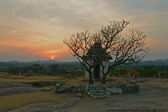 """ EVERY SUNSET BRINGS THE PROMISE OF A NEW DAWN "" (GOPAN G. NAIR [ GOPS Photography ]) Tags: sunset india tourism photography evening twilight tour hill karnataka hampi gops gopan hemakuta gopsorg gopangnair gopsphotography"
