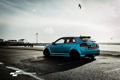 Satin Ocean Shimmer wraps (Sean at Monsterwraps Ltd) Tags: wrapped wrap modified audi lowered stance airlift bagged fitted satinblue satinwrap speedhunters loweredlifestyle 3mwrap monsterwraps wrappedworld wrappedlife