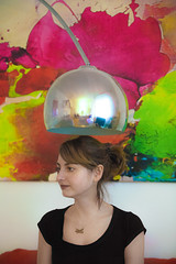 Oana II (luebke_) Tags: portrait woman reflection lamp girl beautiful painting colourful mcu oana mediumcloseup