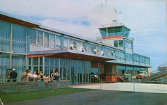 Calgary Municipal Airport, Alberta (SwellMap) Tags: architecture plane vintage advertising design pc airport 60s fifties aviation postcard jet suburbia style kitsch retro nostalgia chrome americana 50s roadside googie populuxe sixties babyboomer consumer coldwar midcentury spaceage jetset jetage atomicage
