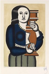 Femme a la cruche, 1928 // aquatint, engraving and roulette by Fernand Leger (mike catalonian) Tags: 1920s france graphicart engraving 1928 aquatint fernandleger