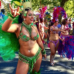 'Summer In Australia' - February, 2016 (aus.photo) Tags: carnival pink blue summer woman green smile festival fun costume women samba dancers dancing feathers makeup australia dancer parade bikini streetparade fishnets canberra lipstick multicultural eyeshadow sequins act fishnetstockings canberramulticulturalfestival ausphoto