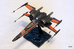 IMG_2119 (harrison-green) Tags: film movie star model fighter force space wing x xwing spaceship wars poe 172 bandai t70 awakens dameron incom