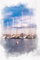 Pastel 5 (Alexandre66) Tags: france port canon bateaux 66 l 5d usm f28 mkiii 2015 saintcyprien 1635mm pyreneesorientales poselente
