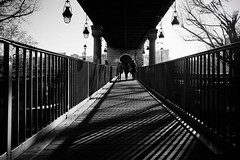 Pont Bir-Hakein Paris . (kitchou1 Thanx 4 UR Visits Coms+Faves.) Tags: world bridge trees winter people bw paris france nature architecture season landscape europe cityscape exterior nb arbres saison