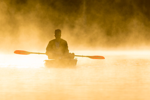First Light - Kayak in the Mist on the Chassahowitzka