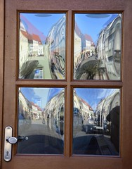 It was a perfect spring day! (:Linda:) Tags: reflection germany four town thuringia browndoor themar