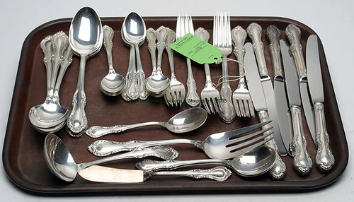 "68 Pieces Towle ""French Provincial"" Sterling Flatware - $1155.00 (Sold June 5, 2015)"