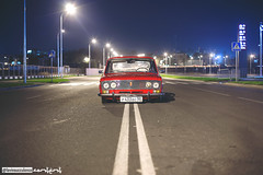 Lada 1500 (lovinsucculence) Tags: street city red classic car night russia outdoor moscow air low automotive retro vehicle lada lowered dropped resto vaz 2103