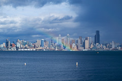 Rainbow forming in Downtown Seattle (alextutu1821) Tags: seattle usa us wa marination