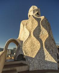 Rooftop, La Pedrera, Barcelona (Gordon Haws) Tags: barcelona spain gaudi catalunya catalan casamil lapedrera antonigaudi