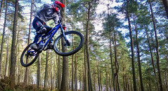 Had a go at some action shots today.. (PANDORA OR LATER) Tags: mountain motion bike speed forest landscape scotland movement afternoon aberdeenshire angle outdoor sony air downhill aberdeen biking shutter airborn rx100