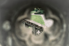 Tyntesfield (lauraeastw) Tags: green slr film 35mm bristol aperture view shapes nationaltrust perceptive analouge
